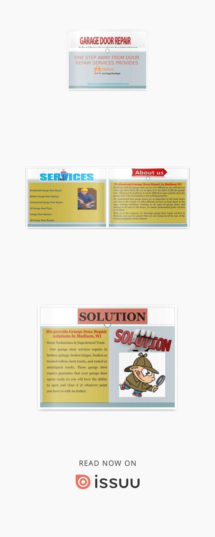 All Types Of Garage Door REpair Services in Madison WI | Best Garage on replacement doors madison wi, garage doors raleigh nc, garage doors chattanooga tn,