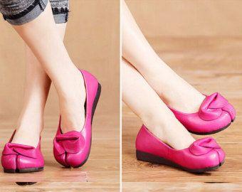Scarpe fatte a mano verde per donne scarpe Oxford scarpe