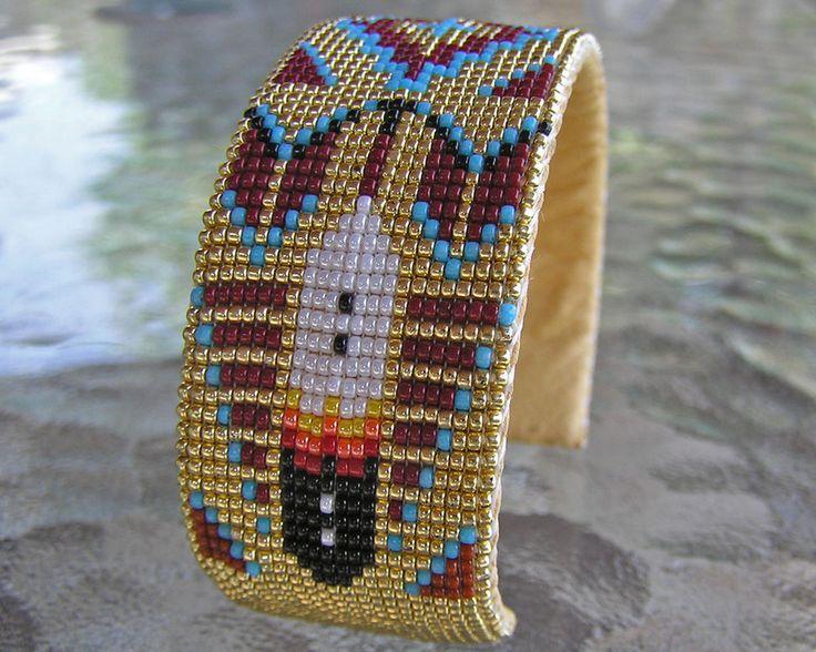 Ручная работа красивая вышитая навахо индийский браслет отличный узор с латунной Джон | Украшения и часы, Товары разных регионов, этнических групп и племен, Культура американских индейцев | eBay!