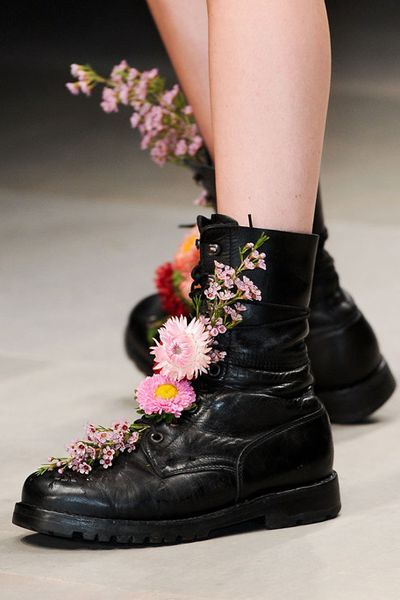 flowers in your boots @Makayla Renaud
