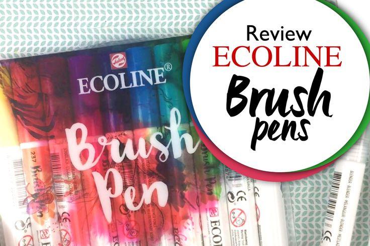 Ecoline Brush Pens Review: 8 toepassingen en meer!!
