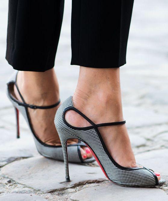 Houndstooth Heels