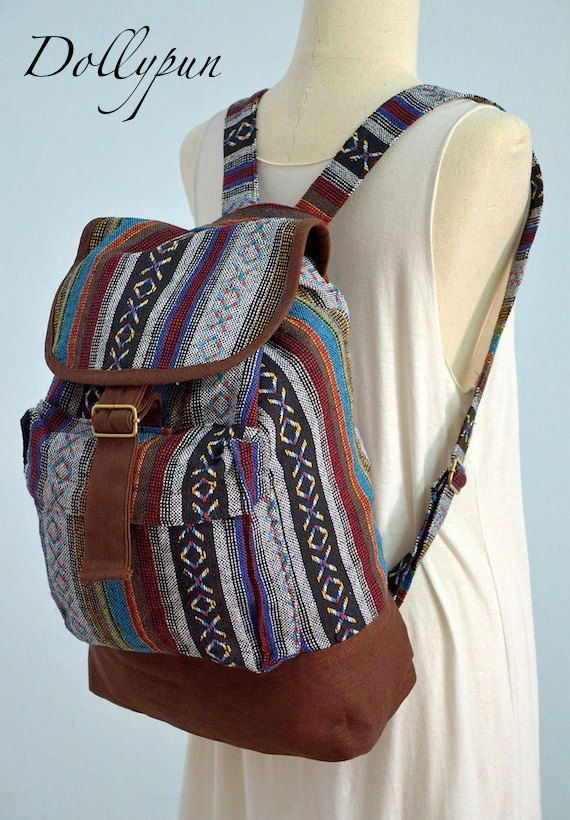 For school!Nepali Hippie Backpack Boho Book Bag Messenger by Dollypun on Etsy, $34.99