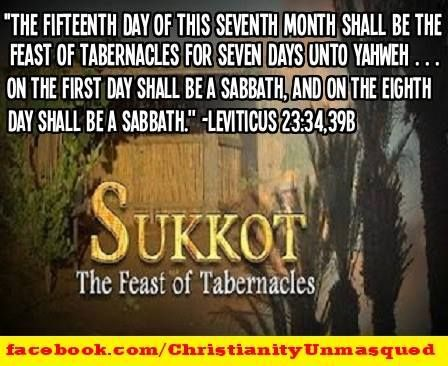 The 7th month has 3 Feasts, ①Rosh Hashanah...The type of Rapture, ②Yom Kippur...The type of Great Tribulation, ③Sukkot...The type of Messianic Kingdom(Millennium).