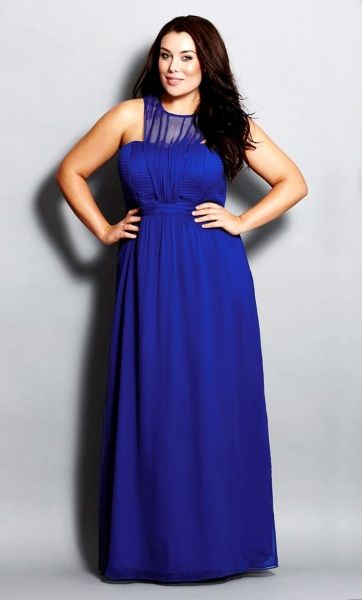 Beautiful Plus Size Bridesmaid Long Gowns