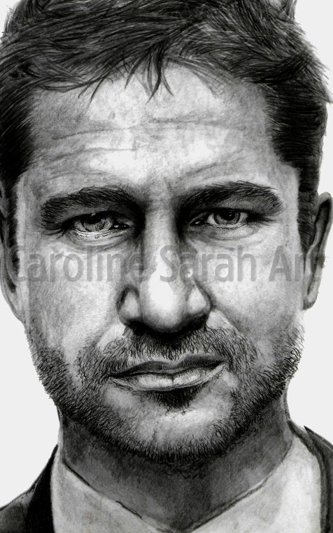 Drawing of actor Gerard Butler