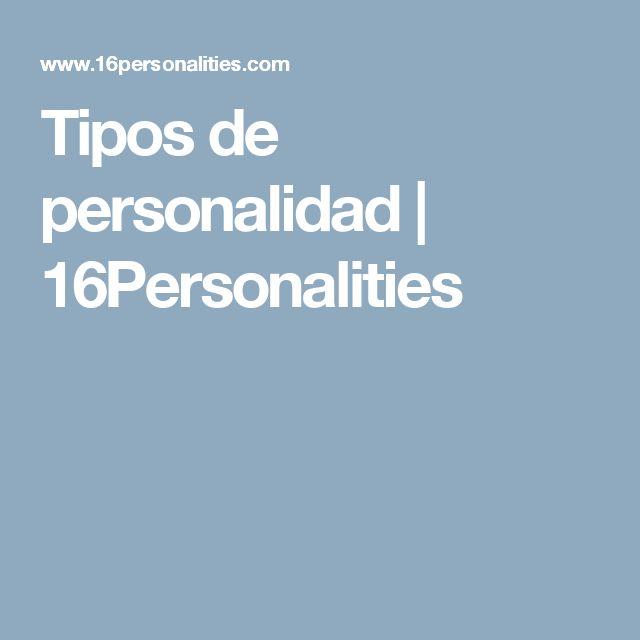 Tipos de personalidad | 16Personalities