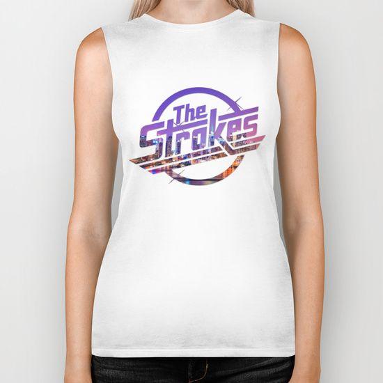 The Strokes - Logo New York Night by Fligo. #thestrokes #Logo #NewYork #Night #bands #rock #juliancasablancas #bikertops #society6 #strokes #white #girlytees #merchandise #cool #forsale