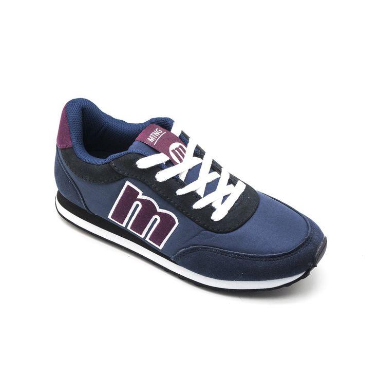 zapatillas mustang azul burdeos | MUSTANG 56406 azul - Zapatillas de cordones para mujer