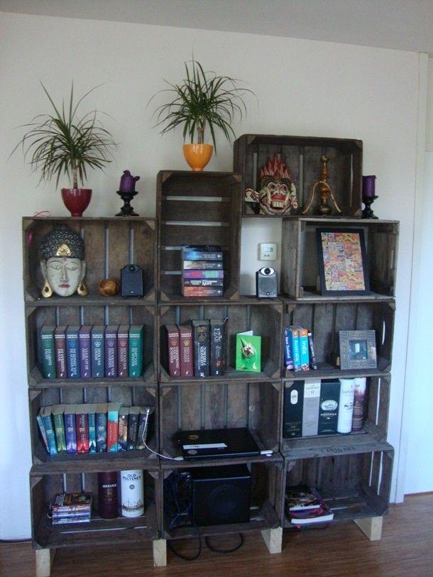 Meer dan 1000 idee n over oude houten kratten op pinterest houten kratten kratten en krat planken - Krat met appel ...
