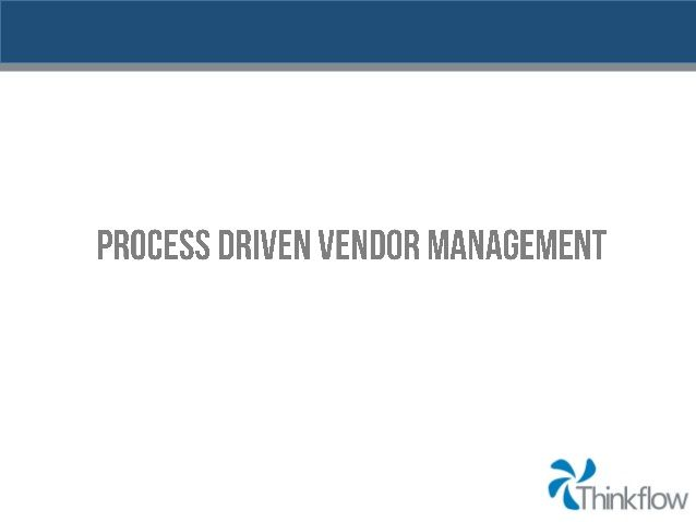 Thesis on vendor management