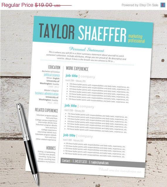 14 best Resumes images on Pinterest Design templates, Resume