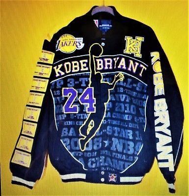 JEFF HAMILTON  NBA LOS ANGELES LAKERS KOBE BRYANT#24 JACKET Sz LARGE NWOT