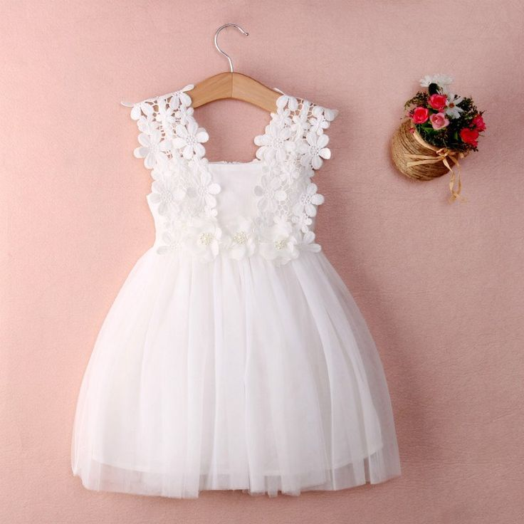 Lace Tulle Flower Gown Fancy Sundress About Department Name: Children Gender: Girls Dresses Length: Above Knee, Mini Silhouette: Ball Gown Collar: Square Collar Sleeve Length: Sleeveless Decoration: L