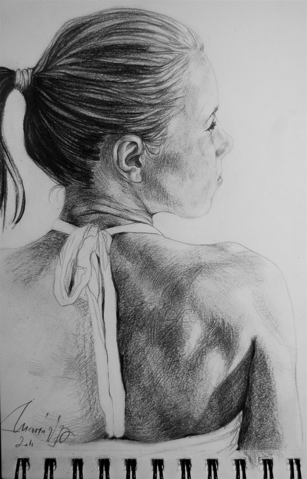 Pencil on paper - My cousin