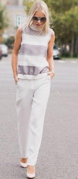 White pants – Cum purtam pantalonii albi? | Catalina Grama #white  women fashion outfit clothing style apparel @roressclothes closet ideas