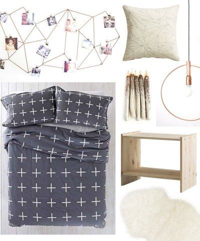 The Latest Addition To Our Dorm Style Series Is This Room Which Combines Diys And Budget Finds To Create A Look Thats Streamlined And Modern But