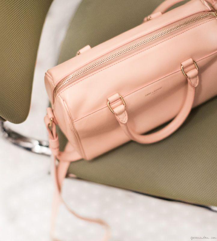 // saint laurent pale pink bag | garance doré