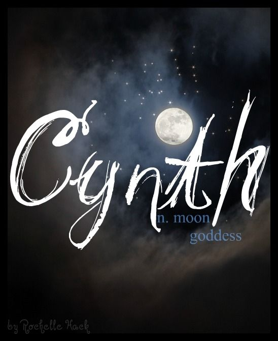 Baby Girl Name: Cynth. Meaning: Moon Goddess or Moon. Origin: A form of the name Cynthia: Greek Goddess of the Moon. http://www.pinterest.com/vintagedaydream/baby-names/