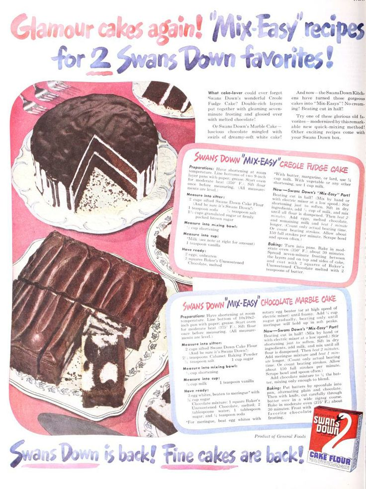 Pin Swans Down Cake Flour Wartime Recipes Click To View