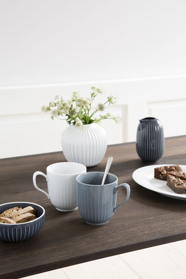 Hammershøi Mugs White and Marble from Kähler design