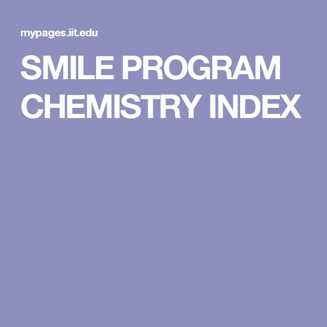 SMILE PROGRAM CHEMISTRY INDEX