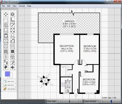 Accessories the unpredicted reception bedroom menu free for Floor plan design software freeware