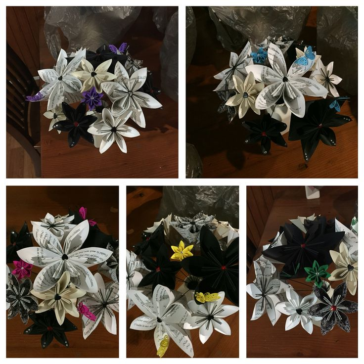 Wedding bouquets from paper
