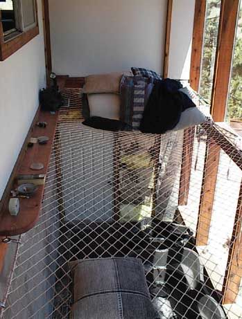 Safety net / hammock for second floor - brilliant!