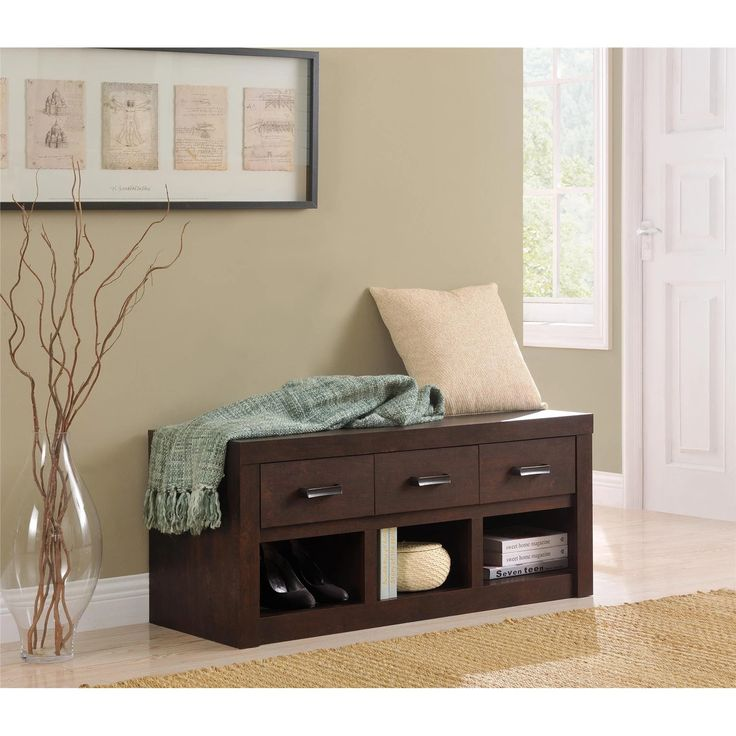 Ameriwood Home Altra West Brook Storage Bench | from hayneedle.com