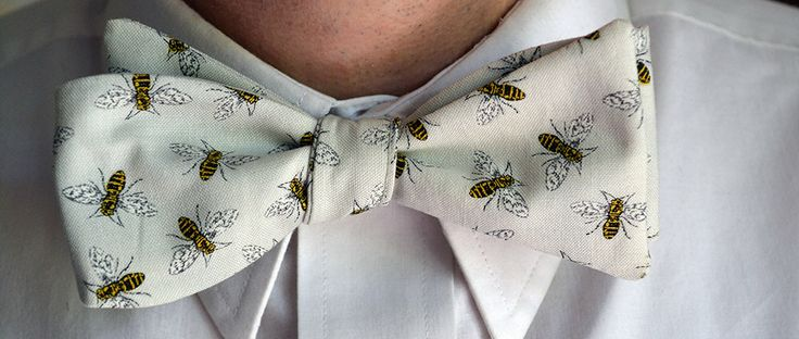 Bee Bow Tie, Mens Bowties, Bee Bowties, Self Tie Bow Tie, Mens Bow Tie, Grey Bow Tie, Light Grey Bow Tie, Gray Bowtie, Wedding Bow Tie, Prom by MichaelEdwardsBowTie on Etsy https://www.etsy.com/listing/386360288/bee-bow-tie-mens-bowties-bee-bowties
