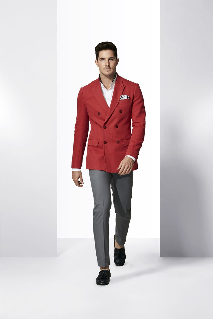 The Red DB Blazer is a spring statement-maker. Shop the look at http://www.calibre.com.au/lookbook/look-259