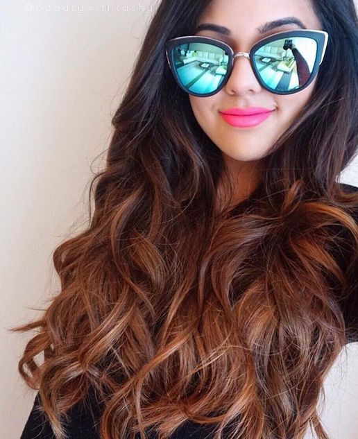 what hair style is right for me a with ombre chestnut poersh hair extensions 1146
