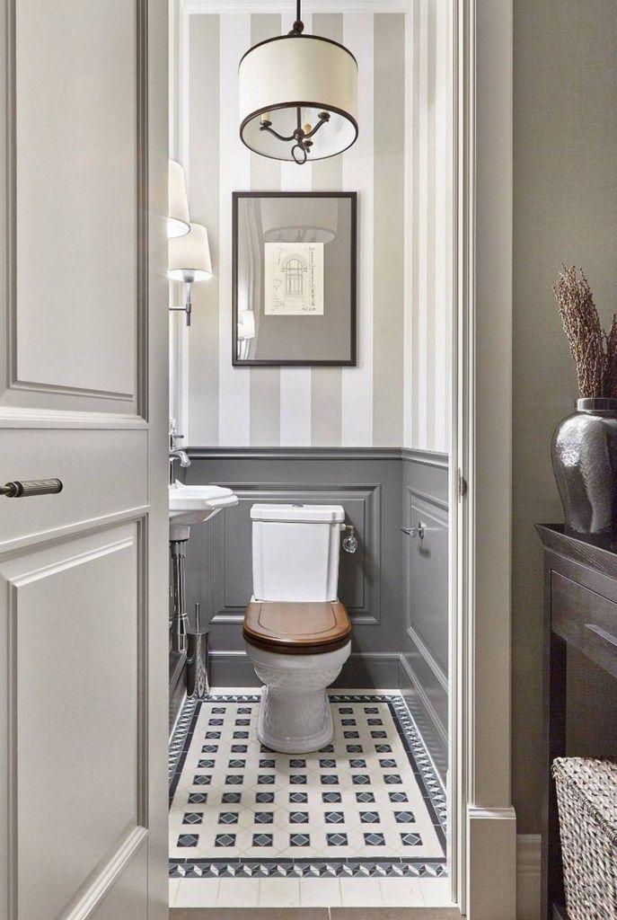 65 Master Bathroom Remodel Ideas In 2020 Small Half Bathrooms Wainscoting Bathroom Bathroom Design Small
