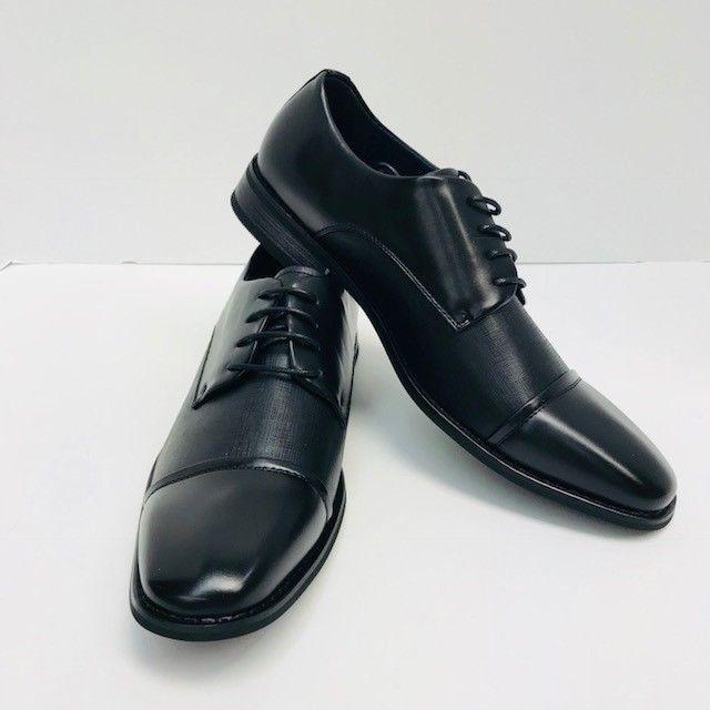 Men's Amali Black Dress Shoes Embossed