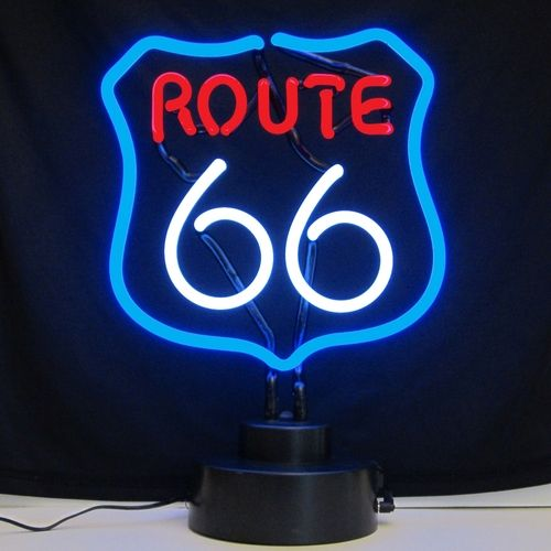 Route 66 Neon Table Top Sculpture