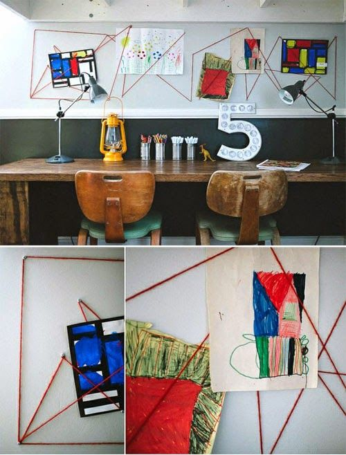mommo design: KIDS ART DISPLAY