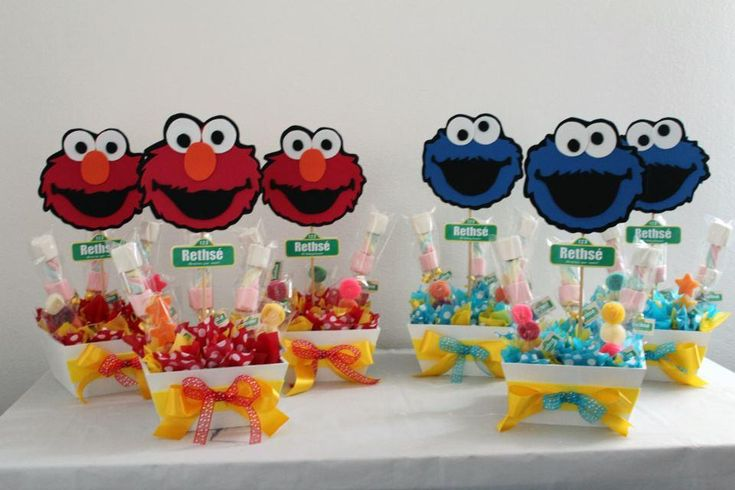 Baby Sesame Street Table Decorations Photograph Str