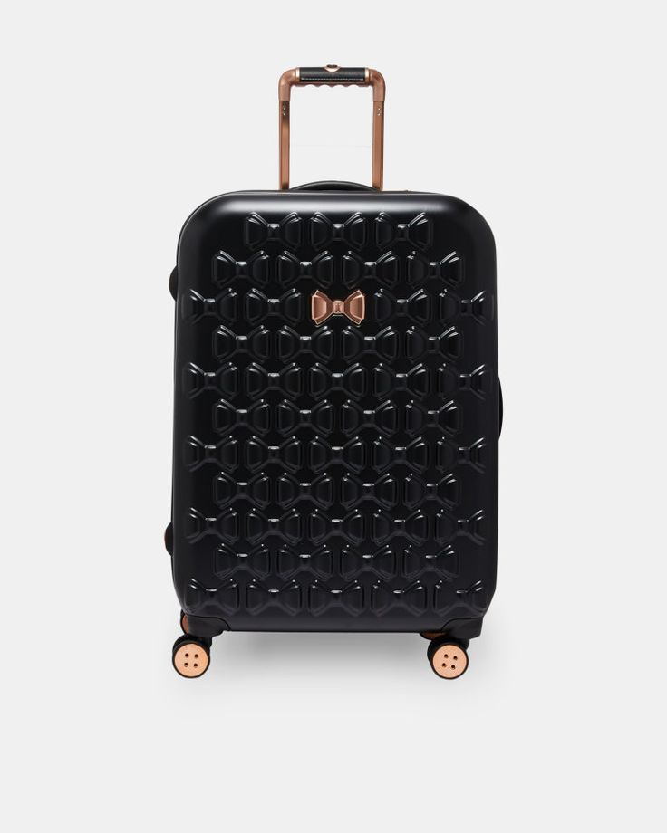 Bow detail large suitcase - Black | Bags | Other Europe Site