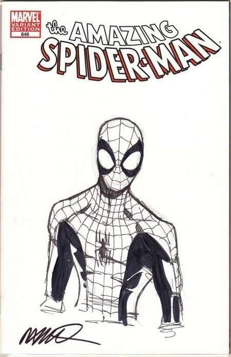 ASM #648 Spider-Man Sketch cover by Humberto Ramos