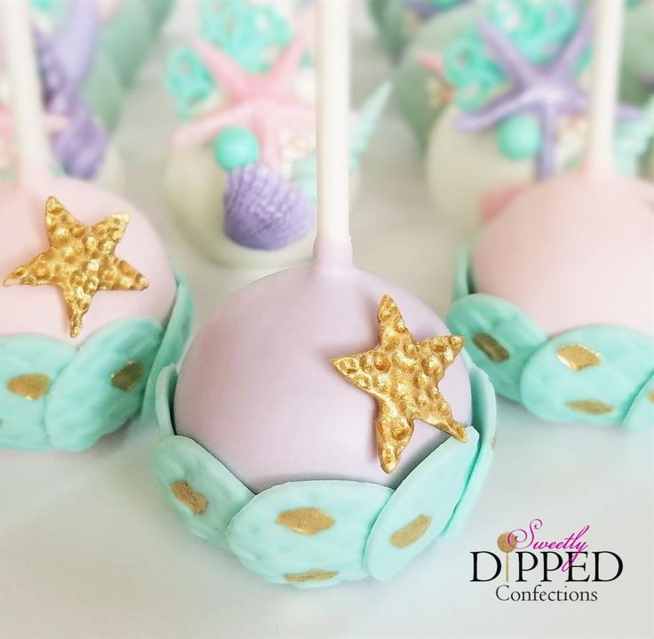 Mermaid cake pops Under the Sea cake pops Mermaid theme