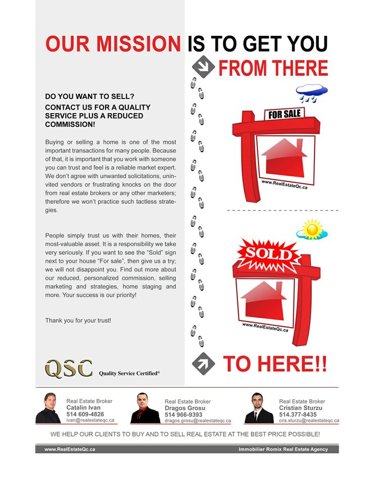 Buying and selling real estate at the best price possible! http://www.realestateqc.ca