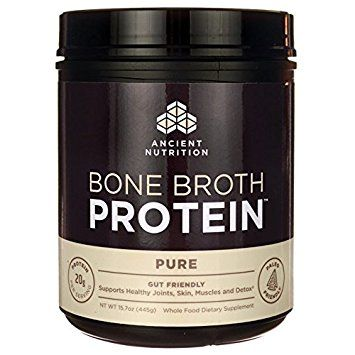 Bone Broth Protein, Pure Flavor - All Natural Protein Powder by Ancient Nutrition - Gut Friendly, Paleo Friendly