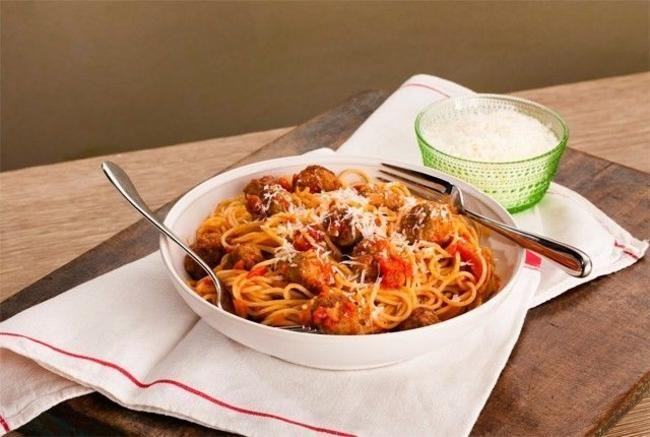Polpette med spaghetti