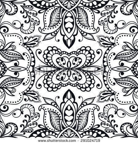Black and white vector geometric background seamless pattern. Tribal ethnic ornament.