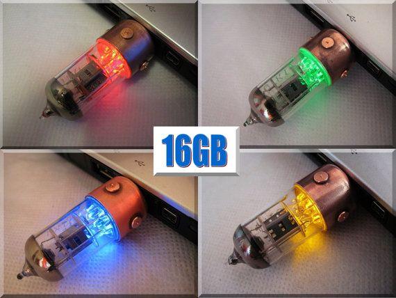 16GB Pentode  Steampunk Style USB flash drive