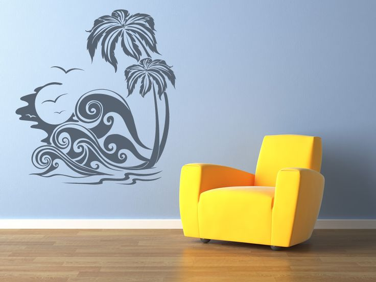 Best Beach Wall Decals Images On Pinterest Wall Decals Beach - Beach vinyl decals
