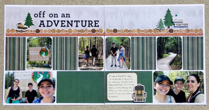 My layout created for challenge #2 of the Creative Memories Virtual Crop (Sept 2017).. #CreativeMemories CM Adventure paper pack