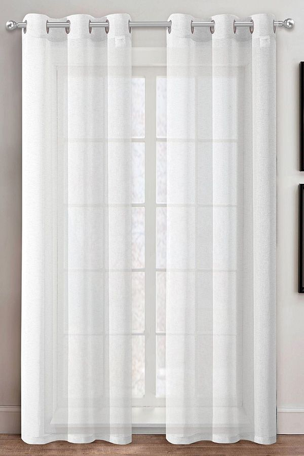 Lennox Semi Sheer Grommet Curtains In 2020 Grommet Curtains