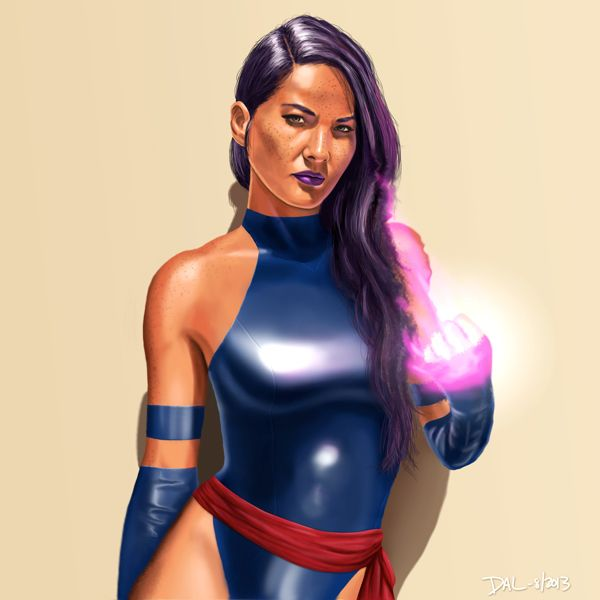 Olivia Munn as Psylocke  by David Lewis